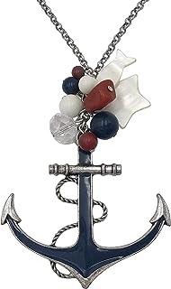 Long Multi Color Nautical Sealife Theme Necklace