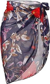 Ekouaer Womens Beach Short Sarong Sheer Chiffon Cover Up Soild Color Swimwear Wrap S-3XL