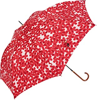 Nifty Colors(ニフティカラーズ) 長傘 フラワーレイヤースリムジャンプ レッド 60cm 1425RD