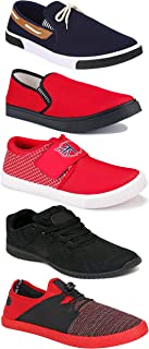 WORLD WEAR FOOTWEAR Sports Running Shoes/Casual/Sneakers/Loafers Shoes for Men Multicolor (Combo-(5)-1219-1221-1140-417-785)