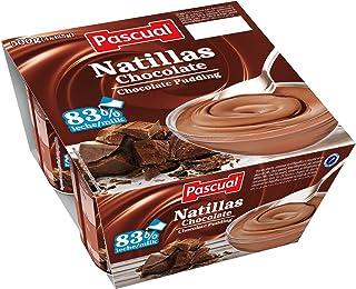 Pascual Natillas Chocolate - Paquete de 4 x 125 gr - Total: 500 gr