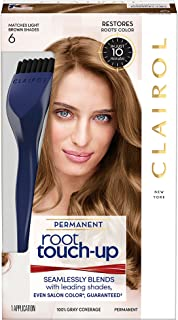 Clairol Root Touch-Up Permanent Hair Color Creme, 6 Light Brown, 2 Count