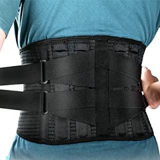 Lower Back Brace Lumbar Support - LONOVE Back Support Belt for Lower Back Pain Relief, Herniated Disc, Sciatica, Scoliosis...