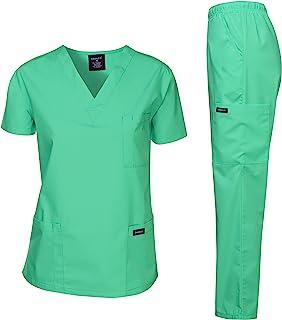 TEAL LADIES TUNIC 12 /& PANTS 14 MEDICAL//CARER//DENTIST SCRUBS ELASTIC WAIST