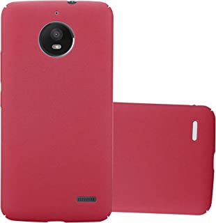 Cadorabo Case Works with Motorola Moto E4 in Frosty RED – Shockproof and Scratch Resistent Plastic Hard Cover – Ultra Slim Protective Shell Bumper Back Skin