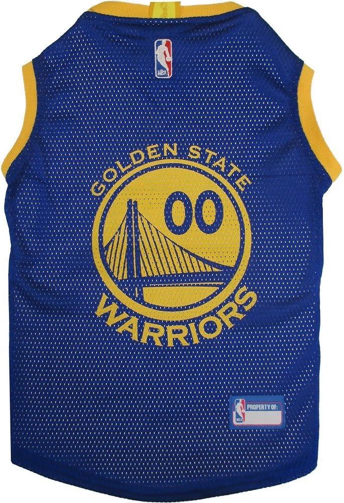 Amazon.com : Pets First Golden State Warriors Dog Basketball Mesh ...