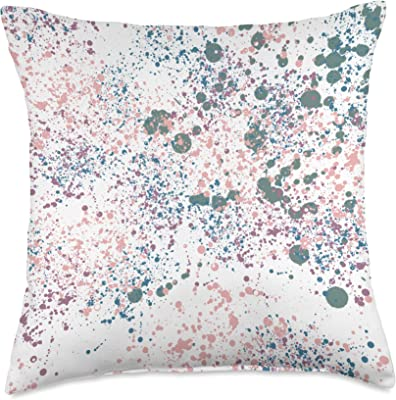 ABSTRACT ART PAINT SPLATTERS Throw Pillow, 18x18, Multicolor