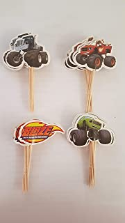 Blaze and the Monster Machines Assorted Cupcake Picks Set of 12