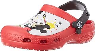 crocs Kids Unisex CC Mickey Paint Splatter Yellow Rubber Clogs and Mules