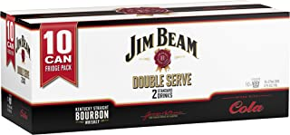 Jim Beam White Double Serve Cans, 375ml (Pack Of 10)