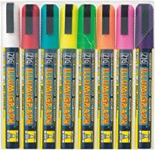 Zig Illumigraph Broad Tip Markers, Multicolor, 8-Pack