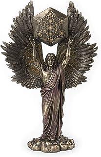 Veronese Design Archangel Metatron Holding Up Sacred Geometry Cube Statue