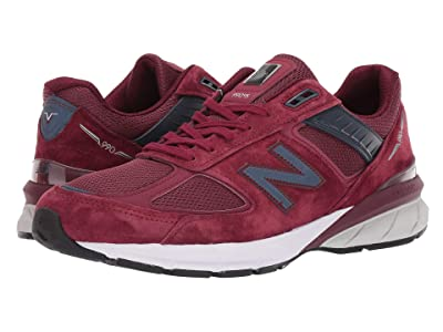 New Balance 990v5 (Burgundy/Navy Pigskin/Mesh) Men