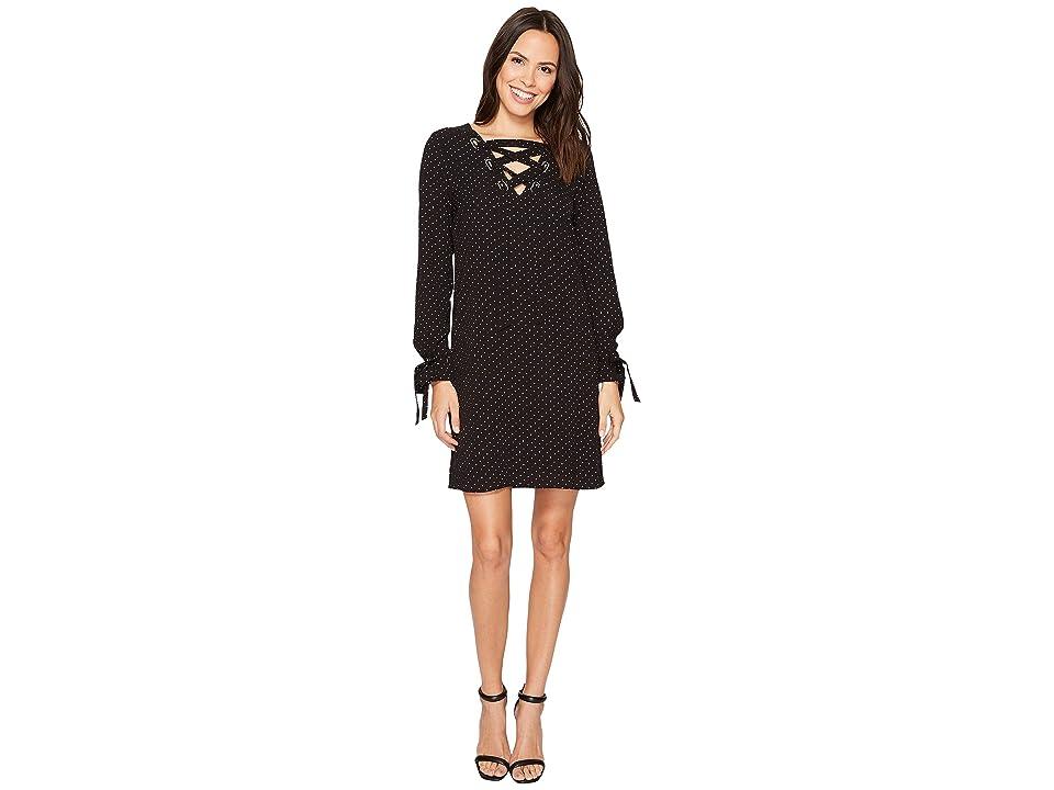 MICHAEL Michael Kors Starbright Lace-Up Dress (Black/White) Women