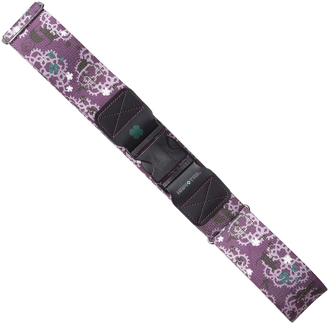 無声でアルバム花瓶[ハピタス] スーツケースベルト ワンタッチバックルタイプ 豊富な柄 6 cm 0.22kg