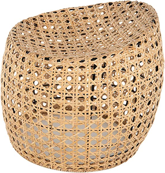 Kouboo 1070015 Jao Rattan Cane Natural Color Stool Brown