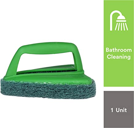 Scotch-Brite Bathroom Scrubber Plastic Brush (Green)