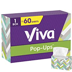 Viva Pop-Ups Paper Towels, White, 60 Sheets