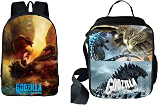 Godzilla Multi-function Backpack College Bookbag Lunch bag