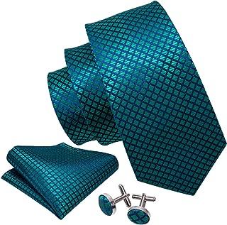 dark teal tie and pocket square
