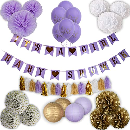 Lavender Baby Shower Decorations Amazon Com