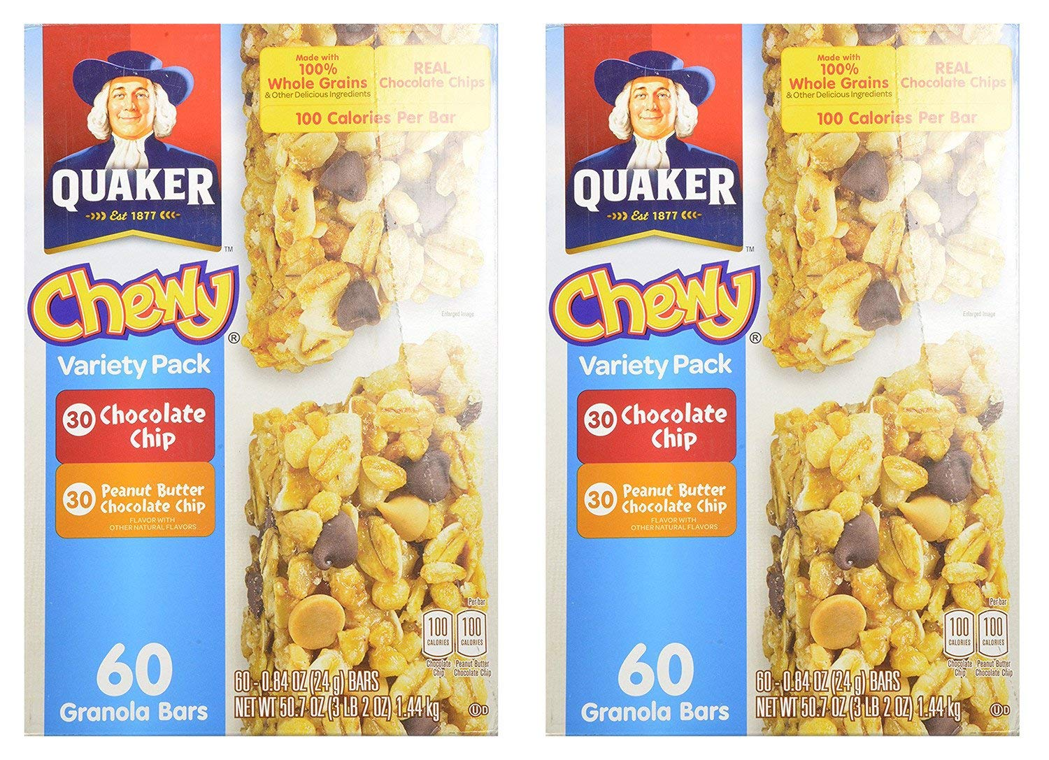 Quaker Chewy AukPU Variety Granola Bars Choco Ranking TOP1 and Peanut Butter Ranking TOP15