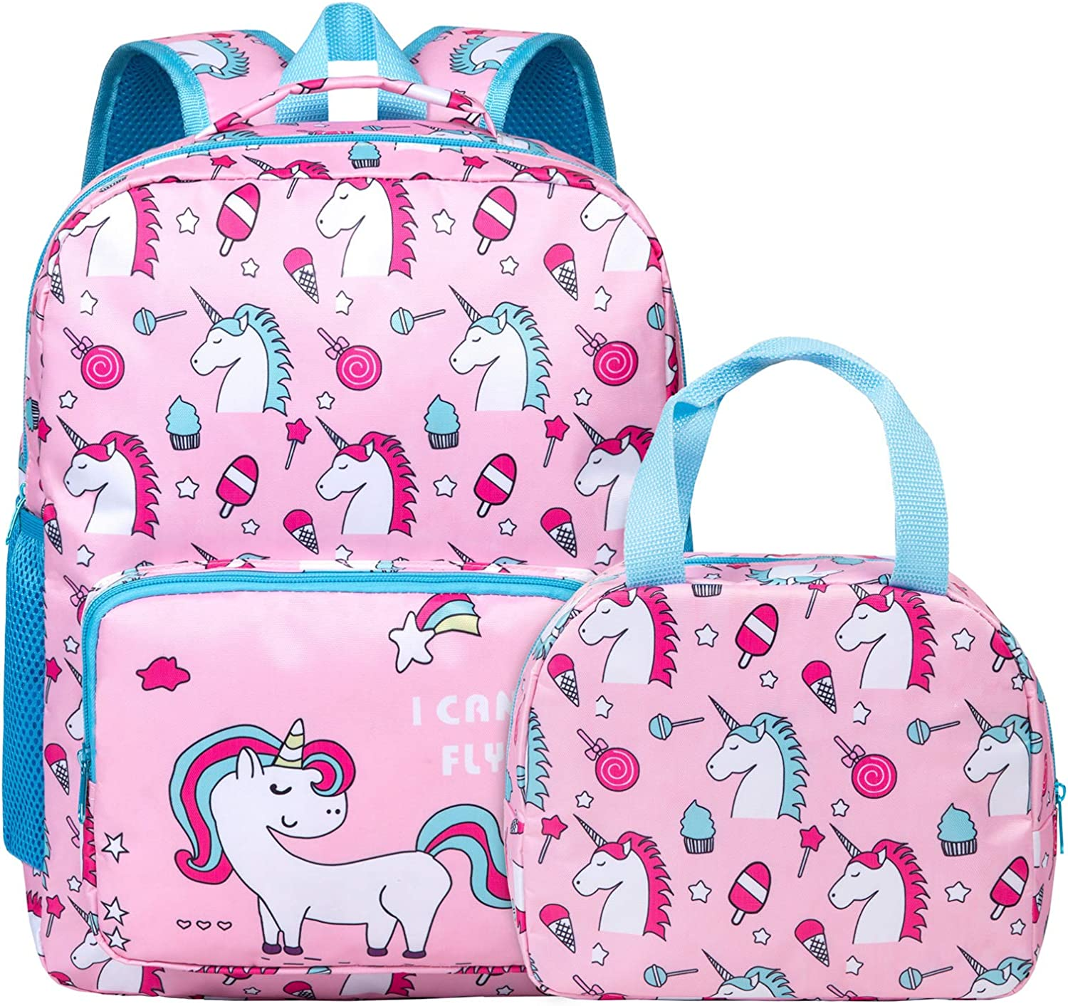 Unicorn Backpack for Girls Toddler free shipping Kids Easy-to-use Teen School Pink Boo