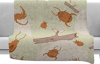 Kess InHouse Cristina Mitchell Pink Hydrangea Photography Nature Throw 80 x 60 Fleece Blanket