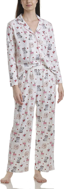 Karen Neuburger Women's Long-Sleeve Pajama Pj Elegant Soldering Girlfriend Set