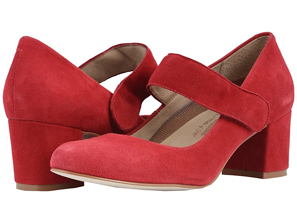 60s Shoes, Boots | 70s Shoes, Platforms, Boots Walking Cradles Jackie-2 Red Kid Suede Womens  Shoes $145.00 AT vintagedancer.com