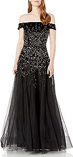Women's Bead Velvet Long Dress