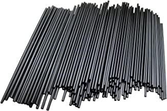 Box of 1800 Cocktail Stirrer Sip Straws, Black Disposable Stirrers