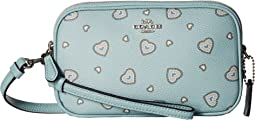Crossbody Clutch in Heart Print
