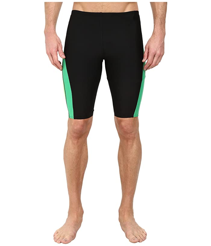 Speedo Launch Splice Jammer (Black/Green) Men