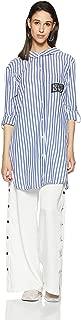 ONLY Women's Checkered Regular Fit Cotton Shirt