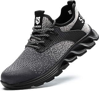 SUADEEX Chaussures de Sécurité Homme Femme Protection de la tête en Acier,Anti-crevaison Léger Respirante Chaussures de Tr...