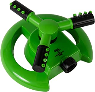 Garden Products USA Rotary Lawn and Garden Sprinkler with Easily Adjustable 360 Degree Coverage, Lightweight and Durable, Covers 856 Sq. Ft