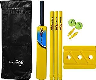 SPORTAXIS Premium Backyard Cricket Set- Beach Cricket- Bat, Balls, Stumps, Bails and Carry Bag