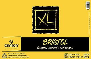 لوحة ورقية من Canson XL Series Bristol Vellum، ورق ثقيل الوزن للقلم ، لمسة نهائية مخملية ، قابلة للطي ، 45.4 كجم ، 11 × 17...