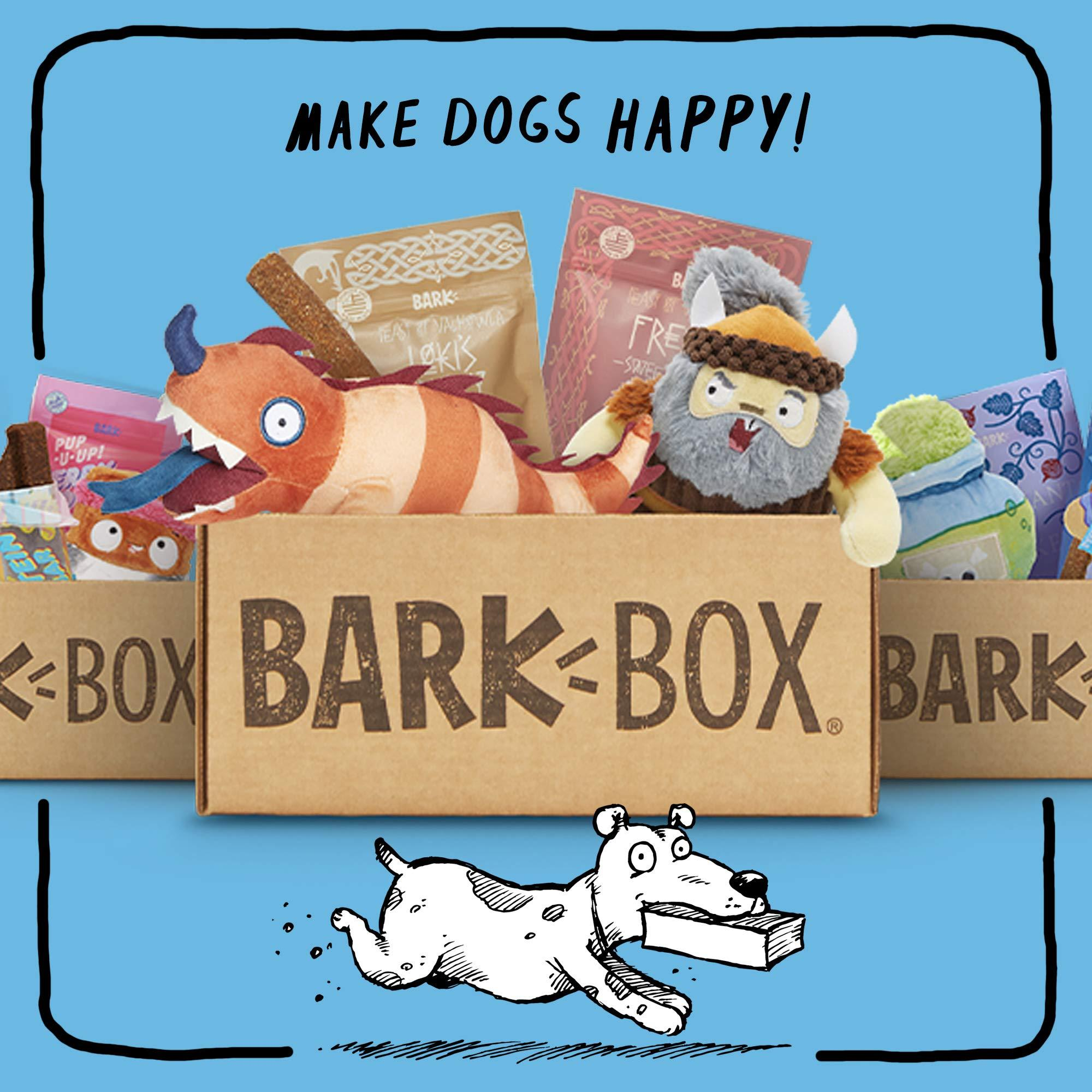 BarkBox Monthly Subscription Box | Dog Chew Toys, All Natural Dog Treats, Dental Chews, Dog Supplies Themed Monthly Box | Medium Dog (20-50lb)