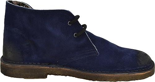 Weg - zapatos de cordones de ante para hombre azul navy