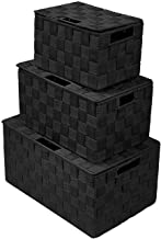 Sorbus Foldable Storage Cube Woven Basket Bin Set - Built-In Carry Handles - Great for Home Organization, Nursery, Playroo...