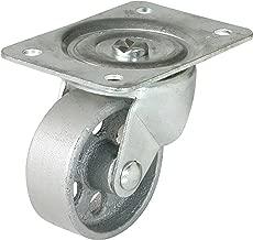 Shepherd Hardware 9782 4-Inch Cast Iron Swivel Plate Caster, 500-lb Load Capacity