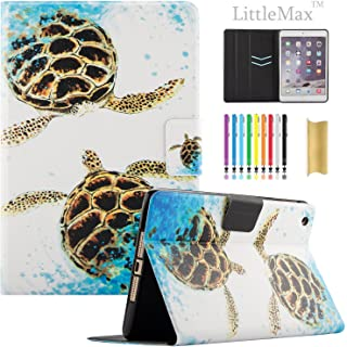 iPad Mini 2 Case, Mini 3 Case - LittleMax [Cards Holder] Ultra Slim Lightweight Thin PU Leather Stand Flip Case Cover with Auto Sleep/Wake for iPad Mini 1/2/3-01 Sea Turtle
