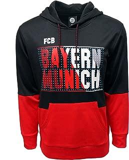 FC BAYERN MUNICH Official Merchandise by HKY Sportswear Men's 2-Tone Fleece Hoodie