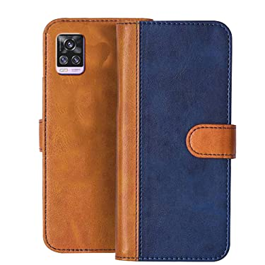 Knotyy Faux Leather Flip Cover with Foldable Stand & Cards Slots (Vivo V20 Pro, Vivo V20 Pro)