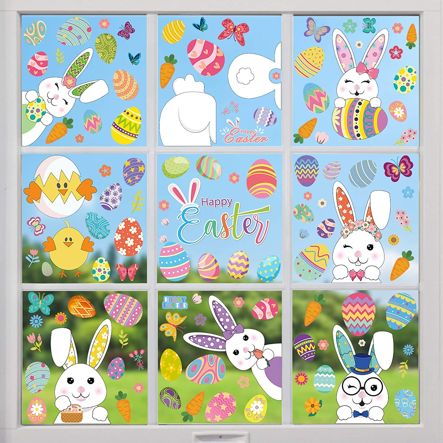 Outlet ☆ Free Shipping Easter High quality Window Stickers for Day 9 121 She Decorations PCS