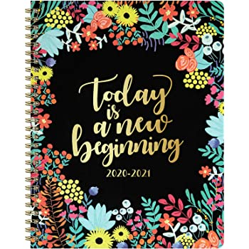 """2020-2021 Planner - Weekly & Monthly Planner with to-Do List, 8"""" x 10"""", Twin Wire - Binding, Perfect for Planning Your Home or Office"""