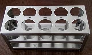 """Stainless Steel Test Tube Rack, 10 Holes, 30 Mm (1 1/8""""), 50 Ml"""