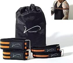 Bandas de oclusión de entrenamiento de Vida Fitness. El juego incluye 2 correas para los brazos y 2 correas para las piernas. Deslizador metálico de fácil ajuste. Incluye bolsa de transporte